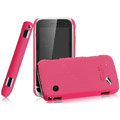IMAK Ultrathin Matte Color Covers Hard Cases for BBK vivo i370 - Rose (High transparent screen protector)