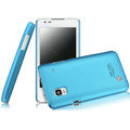 IMAK Ultrathin Matte Color Covers Hard Cases for DOOV iEva D3 - Blue (High transparent screen protector)