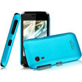 IMAK Ultrathin Matte Color Covers Hard Cases for Gionee C600 - Blue (High transparent screen protector)