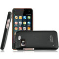 IMAK Ultrathin Matte Color Covers Hard Cases for Gionee GN205 - Black (High transparent screen protector)
