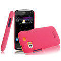 IMAK Ultrathin Matte Color Covers Hard Cases for Gionee GN210 - Rose (High transparent screen protector)