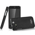IMAK Ultrathin Matte Color Covers Hard Cases for Gionee GN320 - Black (High transparent screen protector)