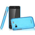 IMAK Ultrathin Matte Color Covers Hard Cases for Gionee GN320 - Blue (High transparent screen protector)