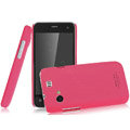 IMAK Ultrathin Matte Color Covers Hard Cases for Gionee GN320 - Rose (High transparent screen protector)