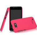 IMAK Ultrathin Matte Color Covers Hard Cases for Gionee GN700W - Rose (High transparent screen protector)