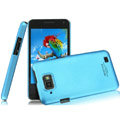IMAK Ultrathin Matte Color Covers Hard Cases for Gionee GN868 - Blue (High transparent screen protector)