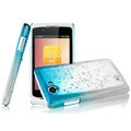 Imak Colorful raindrop cases covers for OPPO Real R803 - Gradient Blue (Screen protection film)