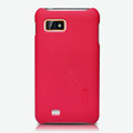 Nillkin Super Matte Hard Cases Skin Covers for Gionee GN800 - Red (High transparent screen protector)
