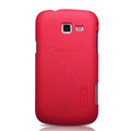 Nillkin Super Matte Hard Cases Skin Covers for Samsung I699 GALAXY Trend - Red (High transparent screen protector)