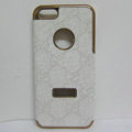 GUCCI Luxury leather Cases Hard Back Covers Skin for iPhone 5 - White