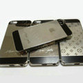 Luxury Grid Plated metal Hard Back Cases Covers for iPhone 5 - Grey
