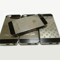Luxury LV Louis Vuitton Plated metal Hard Back Cases Covers for iPhone 5 - Grey