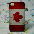 Retro Canada flag Hard Back Cases Covers for iPhone 4G/4GS