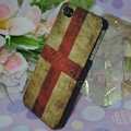Retro England flag Hard Back Cases Covers Skin for iPhone 4G/4GS