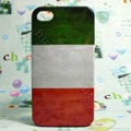 Retro Ireland flag Hard Back Cases Covers for iPhone 4G/4GS