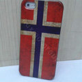 Retro Norway flag Hard Back Cases Covers Skin for iPhone 5