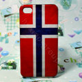 Retro Norway flag Hard Back Cases Covers for iPhone 4G/4GS