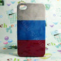 Retro Russia flag Hard Back Cases Covers for iPhone 4G/4GS