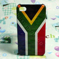 Retro South Africa flag Hard Back Cases Covers for iPhone 4G/4GS