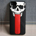 Skull 3D Tongue Hard Back Cases With Stand Covers for iPhone 5 - Black