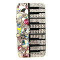 Swarovski Bling crystal Cases Piano Luxury diamond covers for iPhone 5 - White