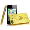 IMAK Aries Constellation Color Covers Hard Cases for iPhone 4G\4S - Golden