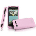 IMAK Armor Knight Color Covers Hard Cases for HTC Lexicon S610D - Pink (High transparent screen protector)