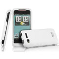 IMAK Armor Knight Color Covers Hard Cases for HTC Lexicon S610D - White (High transparent screen protector)
