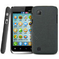 IMAK Cowboy Shell Quicksand Hard Cases Covers for Amoi N89 - Black (High transparent screen protector)