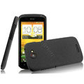 IMAK Cowboy Shell Quicksand Hard Cases Covers for HTC One S Ville Z520E - Black (High transparent screen protector)