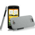 IMAK Cowboy Shell Quicksand Hard Cases Covers for HTC One S Ville Z520E - Gray (High transparent screen protector)