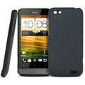 IMAK Cowboy Shell Quicksand Hard Cases Covers for HTC One V Primo T320e - Black (High transparent screen protector)