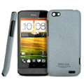 IMAK Cowboy Shell Quicksand Hard Cases Covers for HTC One V Primo T320e - Gray (High transparent screen protector)