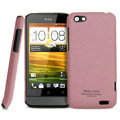 IMAK Cowboy Shell Quicksand Hard Cases Covers for HTC One V Primo T320e - Purple (High transparent screen protector)