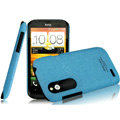 IMAK Cowboy Shell Quicksand Hard Cases Covers for HTC T328W Desire V - Blue (High transparent screen protector)