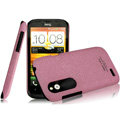 IMAK Cowboy Shell Quicksand Hard Cases Covers for HTC T328W Desire V - Purple (High transparent screen protector)