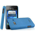IMAK Cowboy Shell Quicksand Hard Cases Covers for Koobee N60 - Blue (High transparent screen protector)