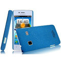 IMAK Cowboy Shell Quicksand Hard Cases Covers for Koobee N62 - Blue (High transparent screen protector)