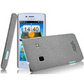 IMAK Cowboy Shell Quicksand Hard Cases Covers for Koobee N62 - Gray (High transparent screen protector)