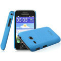 IMAK Cowboy Shell Quicksand Hard Cases Covers for Samsung I659 GALAXY Ace Plus - Blue (High transparent screen protector)
