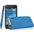 IMAK Cowboy Shell Quicksand Hard Cases Covers for TCL A860 - Blue (High transparent screen protector)