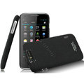 IMAK Cowboy Shell Quicksand Hard Cases Covers for TCL S800 - Black (High transparent screen protector)