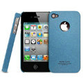 IMAK Cowboy Shell Quicksand Hard Cases Covers for iPhone 4G\4S - Blue (High transparent screen protector)