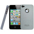 IMAK Cowboy Shell Quicksand Hard Cases Covers for iPhone 4G\4S - Gray (High transparent screen protector)