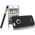 IMAK Cowboy Shell Quicksand Hard Cases Covers for iPhone 5 - Black (High transparent screen protector)