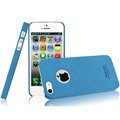 IMAK Cowboy Shell Quicksand Hard Cases Covers for iPhone 5 - Blue (High transparent screen protector)