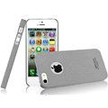 IMAK Cowboy Shell Quicksand Hard Cases Covers for iPhone 5 - Gray (High transparent screen protector)