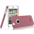 IMAK Cowboy Shell Quicksand Hard Cases Covers for iPhone 5 - Purple (High transparent screen protector)