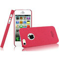 IMAK Cowboy Shell Quicksand Hard Cases Covers for iPhone 5 - Rose (High transparent screen protector)