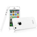 IMAK Cowboy Shell Quicksand Hard Cases Covers for iPhone 5 - White (High transparent screen protector)